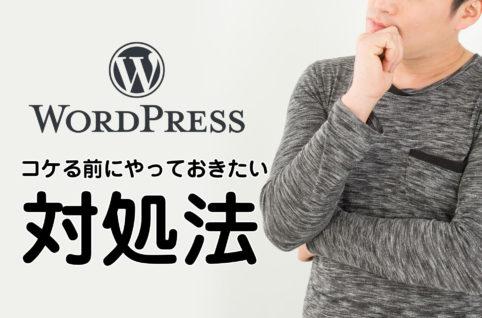WordPressでサイトがコケる前にやっておきたい対処法